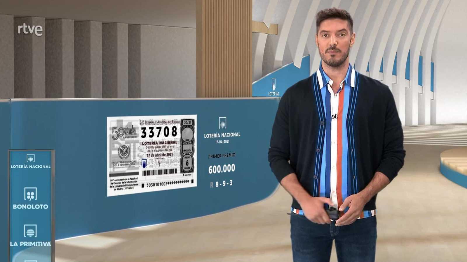 Sorteo de la Lotería Nacional del 17/04/2021 - ver ahora