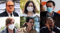 Los candidatos calientan motores horas antes de que comience la campaña de las elecciones del 4M en Madrid