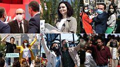 Los candidatos se reivindican como garantía para un gobierno de izquierda o derecha en Madrid en el primer día de campaña