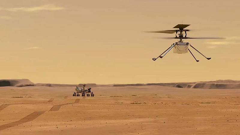 Ingenuity completa el primero de sus vuelos en Marte