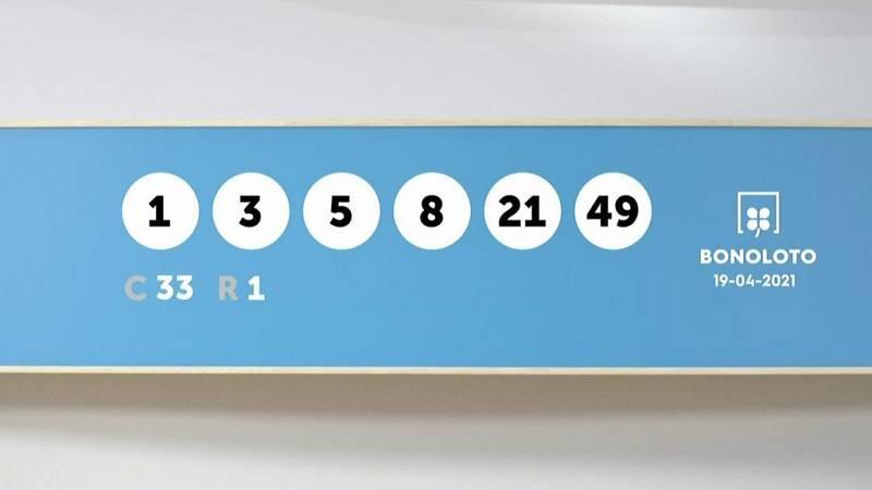 Sorteo de la Lotería Bonoloto del 19/04/2021 - Ver ahora