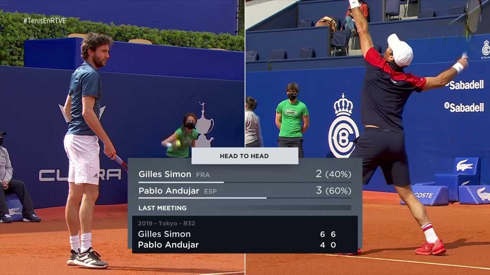 Tenis - ATP 500 Trofeo Conde de Godó. 1º partido: G. Simon - P. Andújar - ver ahora