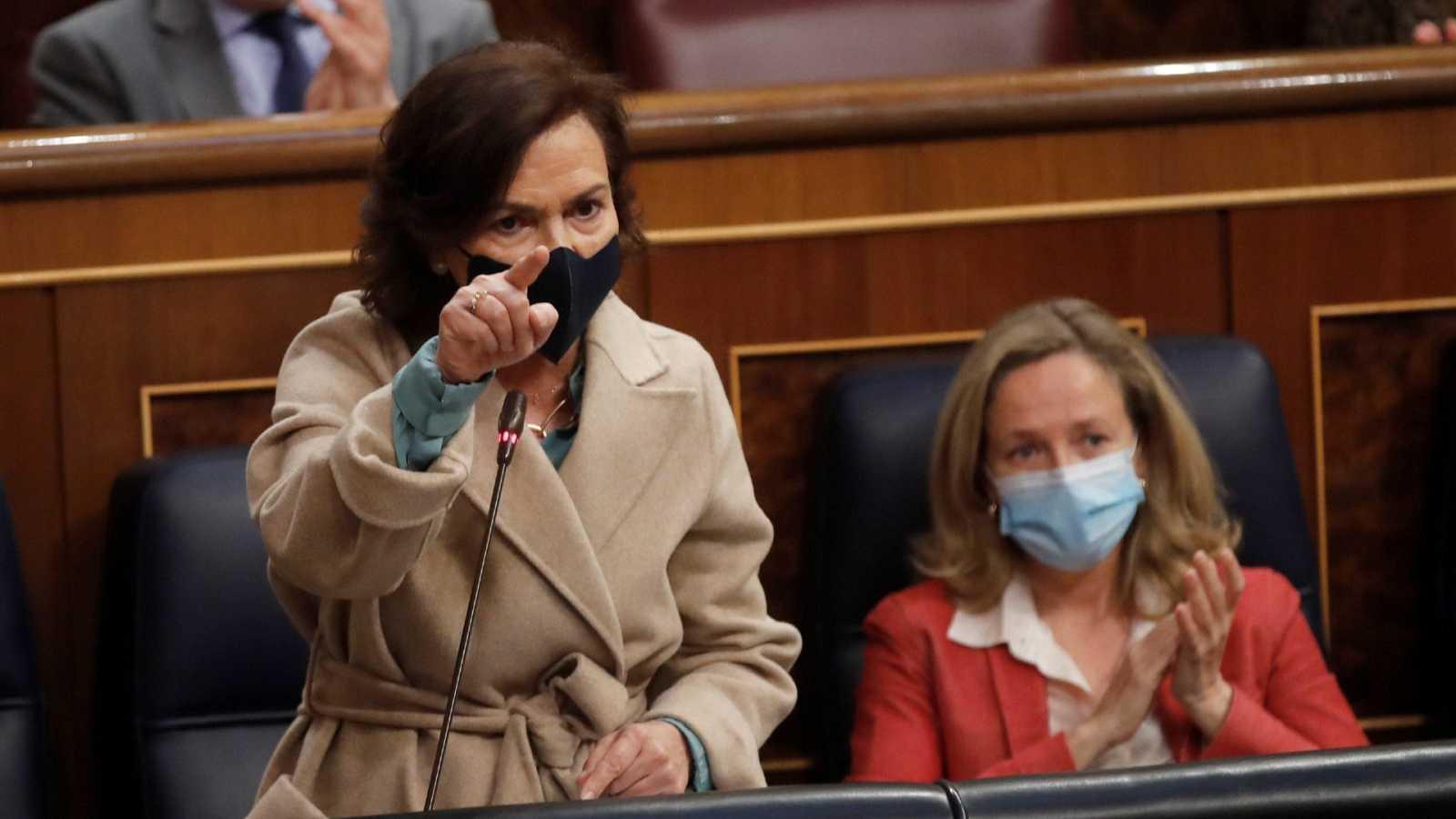 """Calvo responde al PP que el Gobierno no """"ignora"""" al Consejo de Estado y que """"no lo suplanta ningún órgano"""""""