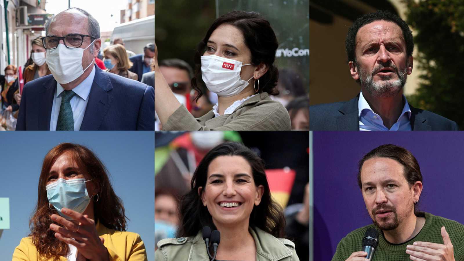 Los candidatos al 4M en Madrid se enfrentan a su primer debate electoral este miércoles