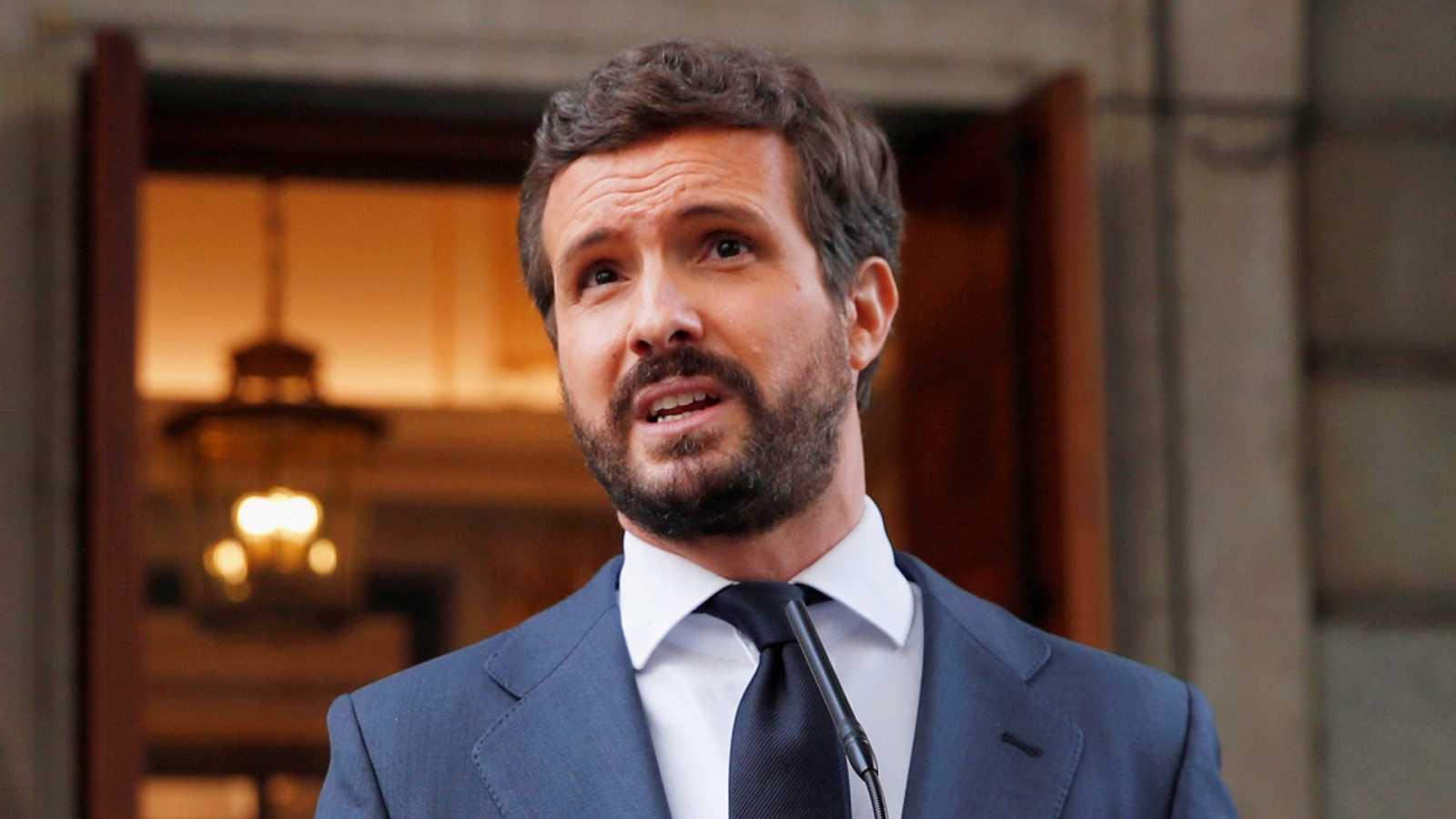 Casado pide a Sánchez cumplir con la UE y reforzar la independencia judicial