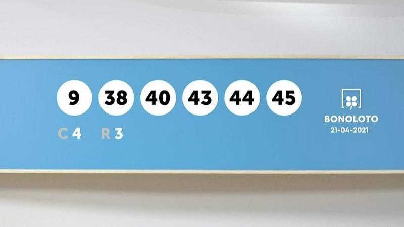 Sorteo de la Lotería Bonoloto del 21/04/2021 - Ver ahora