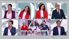 Debate electoral: primer minuto de presentación de los seis candidatos