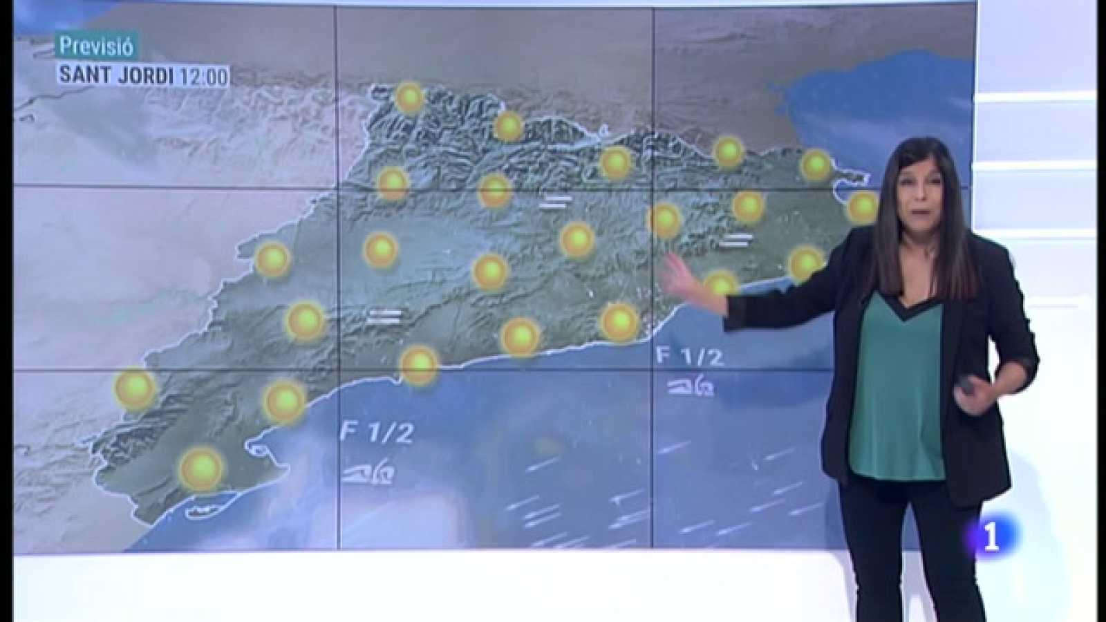 El Temps (22/04/2021) - Dijous de núvols i fresca. Sant Jordi, de sol i caloreta