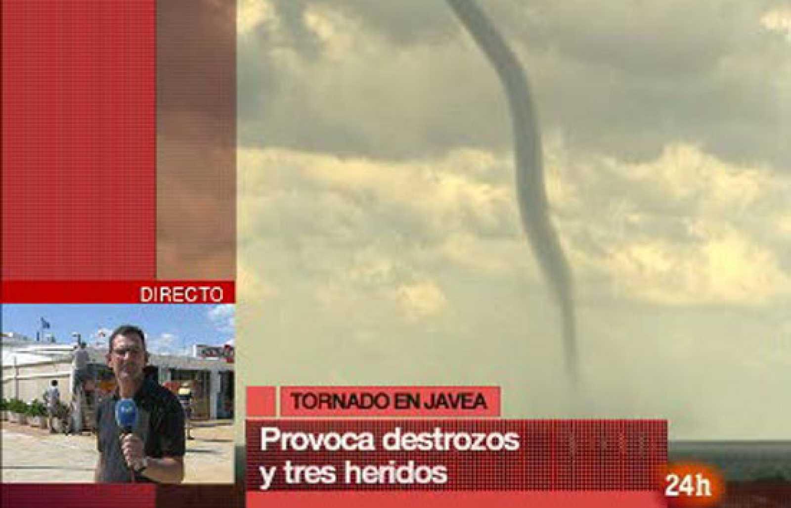 Espectacular tornado en Jávea