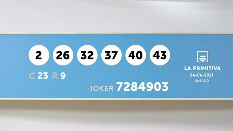 Sorteo de la Lotería Primitiva y Joker del 24/04/2021 - Ver ahora