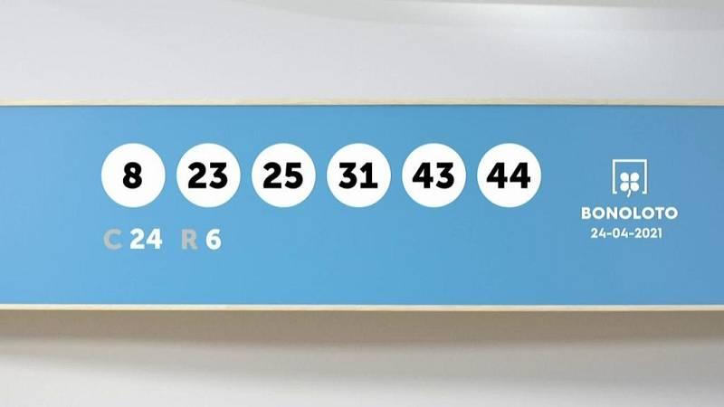 Sorteo de la Lotería Bonoloto del 24/04/2021 - Ver ahora