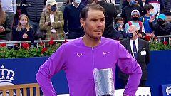 """Rafa Nadal: """"Stefanos es un rival increíble. Es una victoria importante"""""""