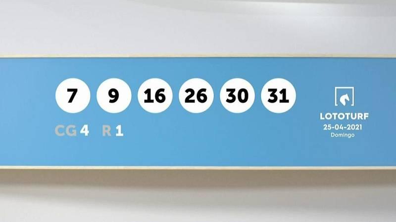 Sorteo de la Lotería Lototurf del 25/04/2021 - Ver ahora