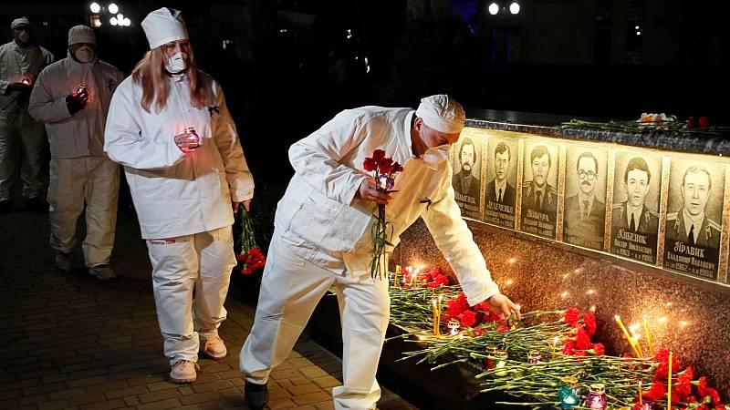 Ucrania recuerda el 35 aniversario del accidente nuclear de Chernóbil
