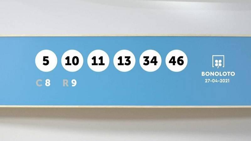 Sorteo de la Lotería Bonoloto y Euromillones del 27/04/2021 - Ver ahora