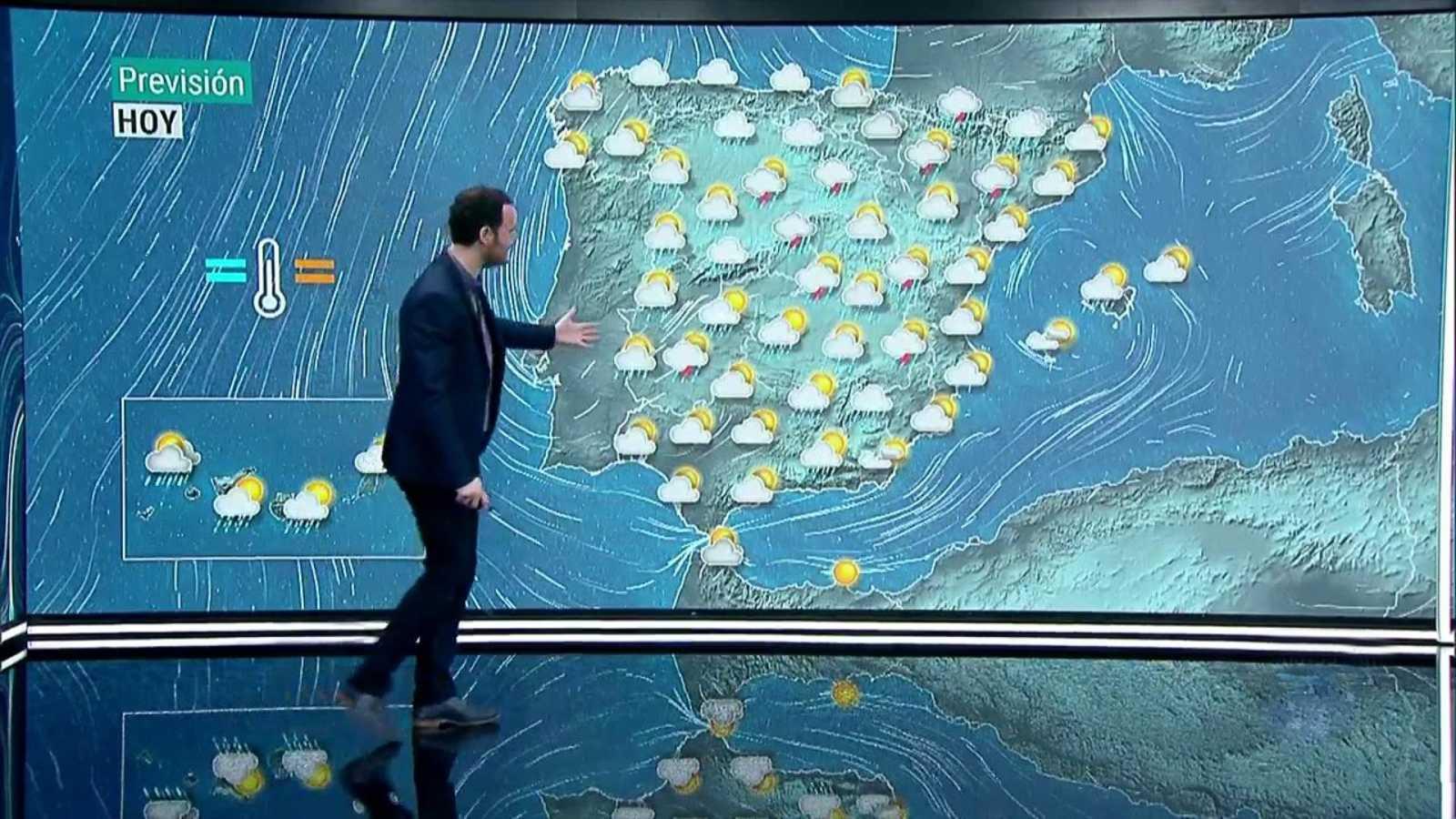 Lluvias y chubascos en amplias zonas de la península