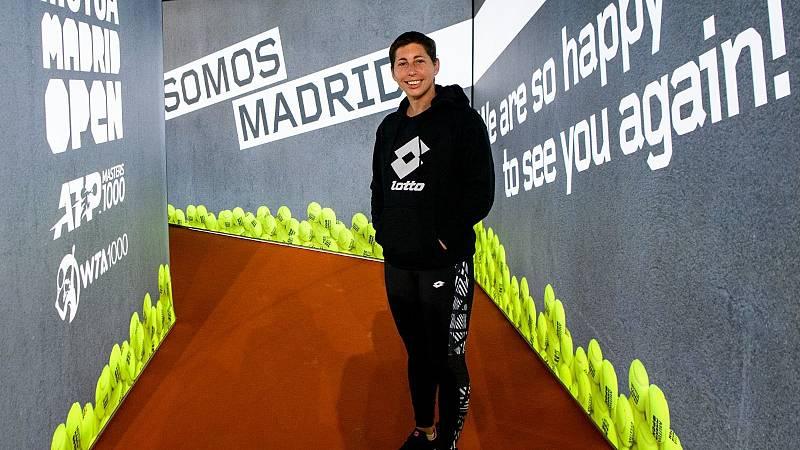 Carla Suárez ultima su puesta a punto en el Mutua Madrid Open