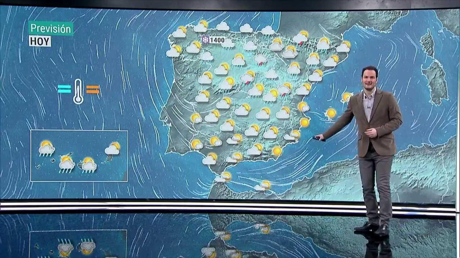 Chubascos y tormentas fuertes en el sistema Ibérico, Central, Cataluña y Aragón