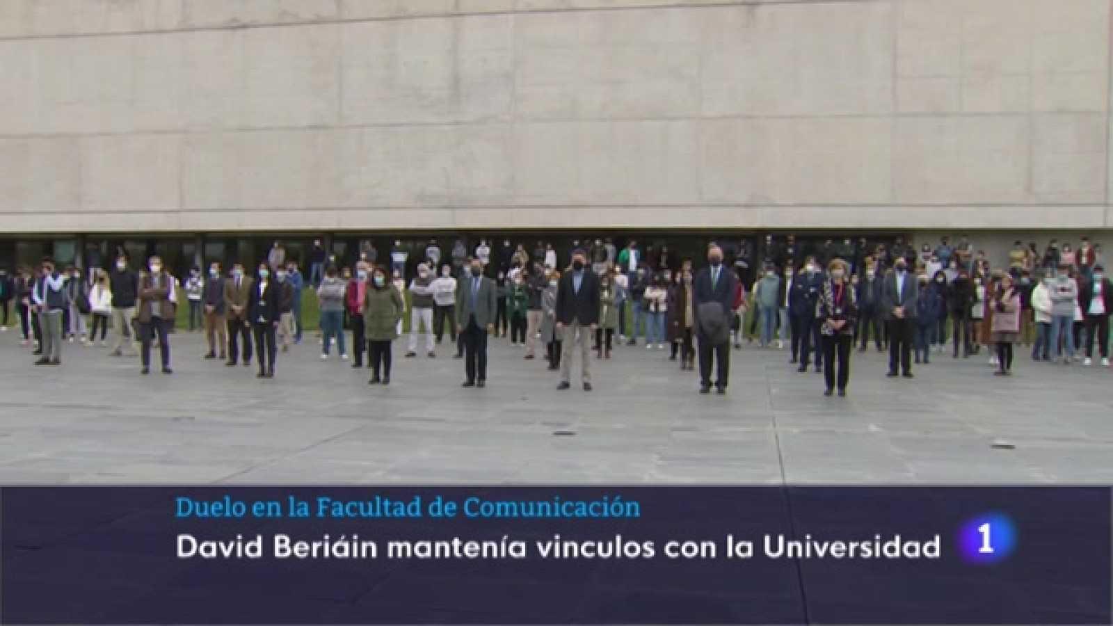 Concentración en La Facultad de Periodismo de la Universidad de Navarra
