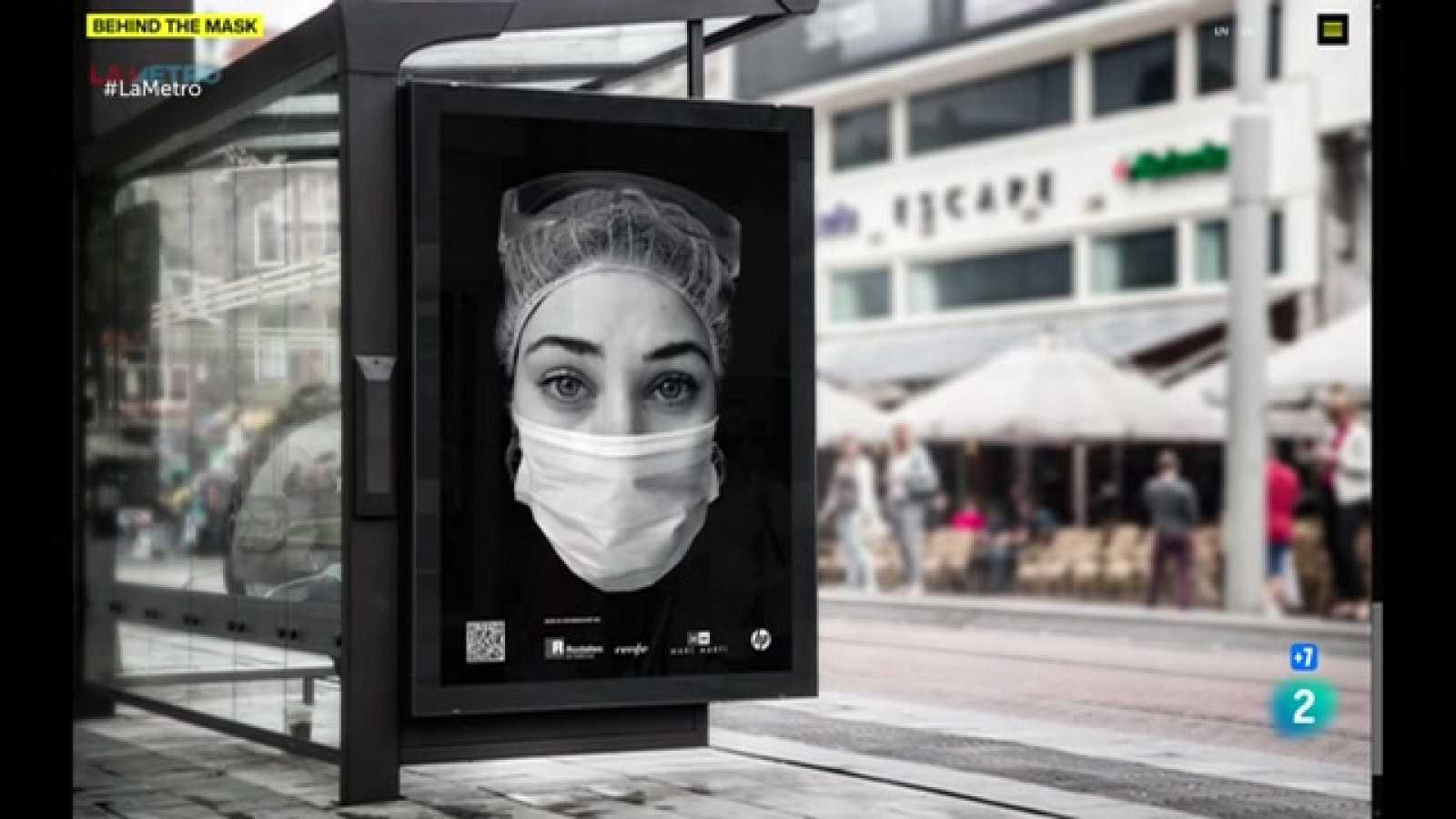 Iniciativa Behind the mask per homenatjar la feina dels sanitaris