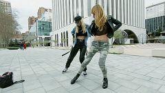 Clase de hip hop al aire libre