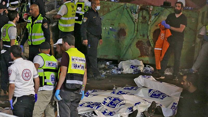 Mueren 45 personas en una estampida en una celebración religiosa en Israel - Ver ahora