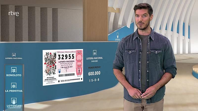 Sorteo de la Lotería Nacional del 01/05/2021 - ver ahora