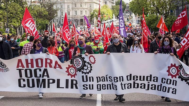 Los sindicatos reclaman mayor justicia social en el Primero de Mayo