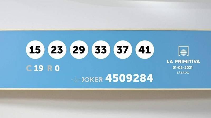 Sorteo de la Lotería Primitiva y Joker del 01/05/2021 - Ver ahora