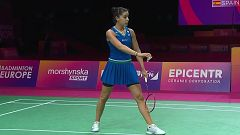 Bádminton - Campeonato de Europa. Final: Carolina Marín - Line Christophersen