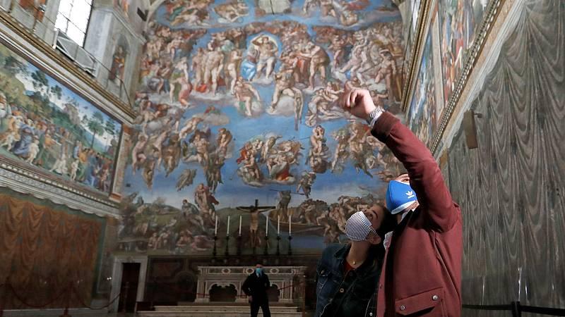 Vídeo: Reabren los Museos Vaticanos en Roma con medidas estrictas