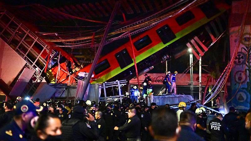 Al menos 20 muertos y más de 70 heridos al desplomarse un metro en Ciudad de México