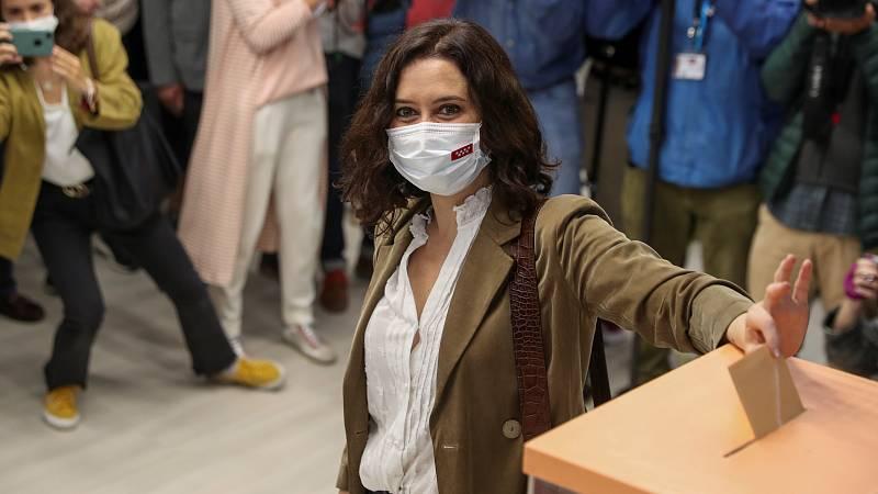 Vota Isabel Díaz Ayuso, candidata del PP a la presidencia de la Comunidad de Madrid
