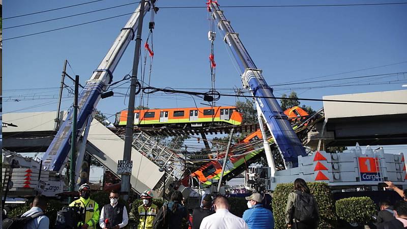 Al menos 23 muertos y 65 heridos al desplomarse un tramo de metro en la Ciudad de México