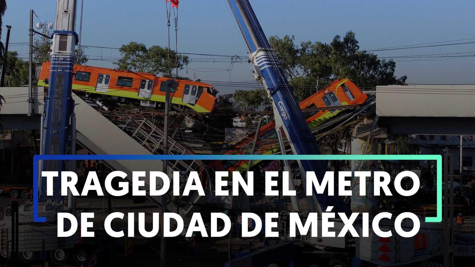 24 muertos al desplomarse un tramo del metro elevado sobre una avenida de Ciudad de México