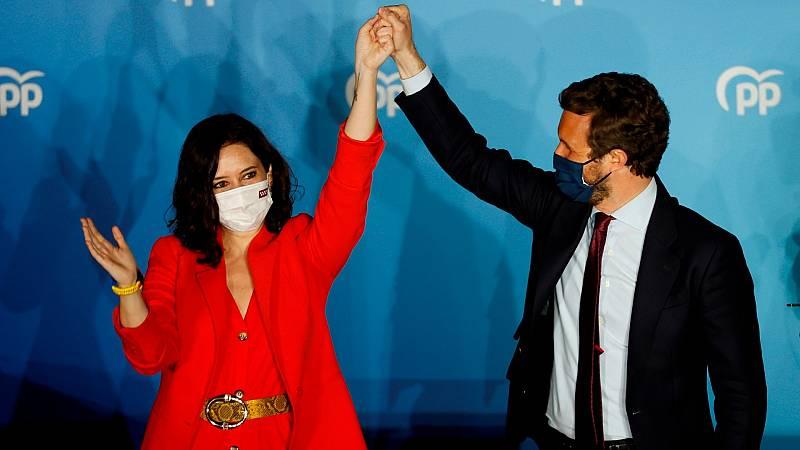 """Casado: """"Madrid ha hecho una moción de censura al 'sanchismo' y al gobierno con Podemos"""""""