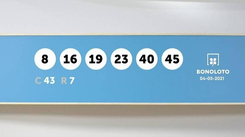 Sorteo de la Lotería Bonoloto y Euromillones del 04/05/2021 - Ver ahora