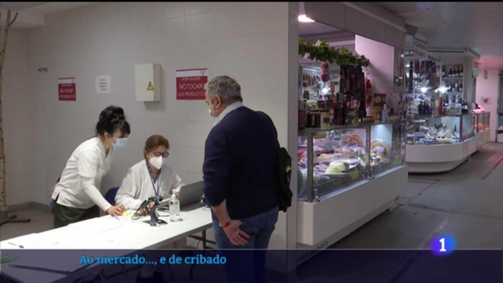 Peixe, froita e PCR nos mercados vigueses