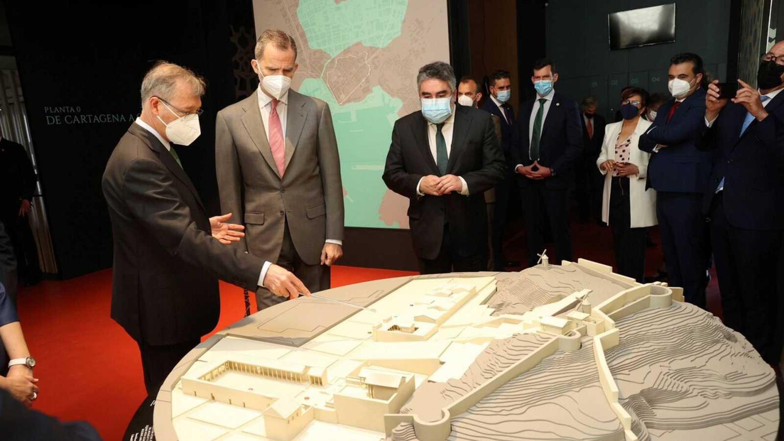 Vídeo sobre el Rey Felipe VI inaugurando el Museo Foro Romano