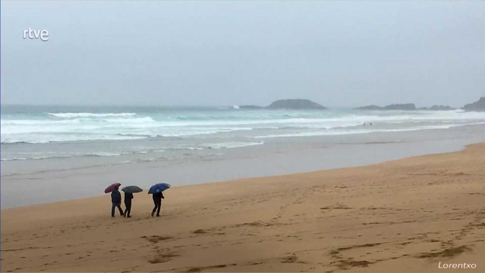 Intervalos de viento fuerte de componente oeste en Galicia y de componente norte en Canarias. Notable aumento de las temperaturas mínimas en Galicia y Asturias - ver ahora