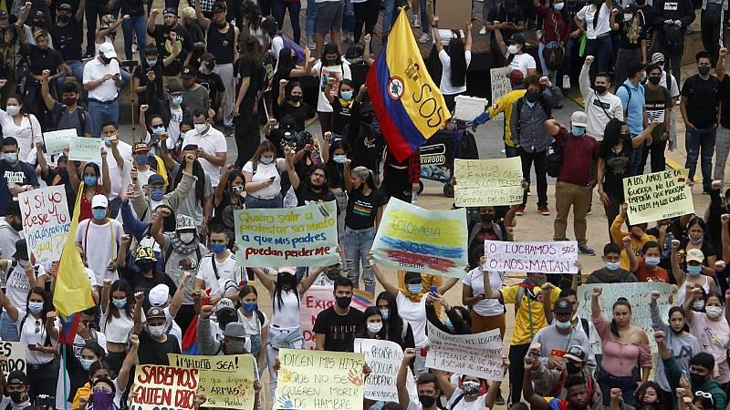 La huelga general marca el octavo día de manifestaciones en Colombia