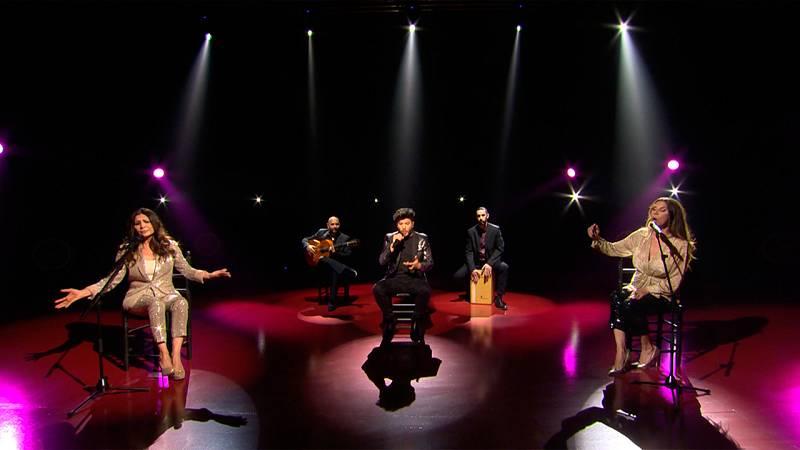 Eurovisión - Blas Cantó y Azúcar Moreno interpretan la versión flamenca de ¿Bandido¿