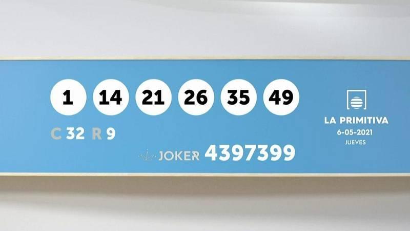 Sorteo de la Lotería Primitiva y Joker del 06/05/2021 - Ver ahora