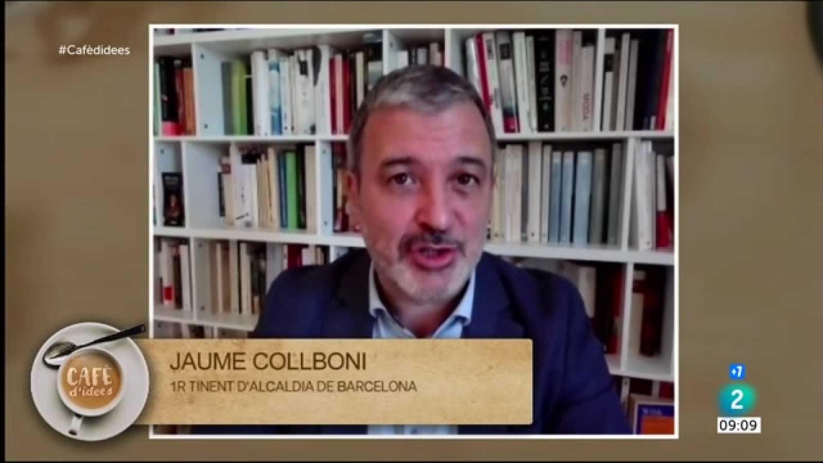 """Cafè d'idees - Jaume Collboni: """"El responsable de la gestió és la Generalitat. Nosaltres col·laborarem"""""""