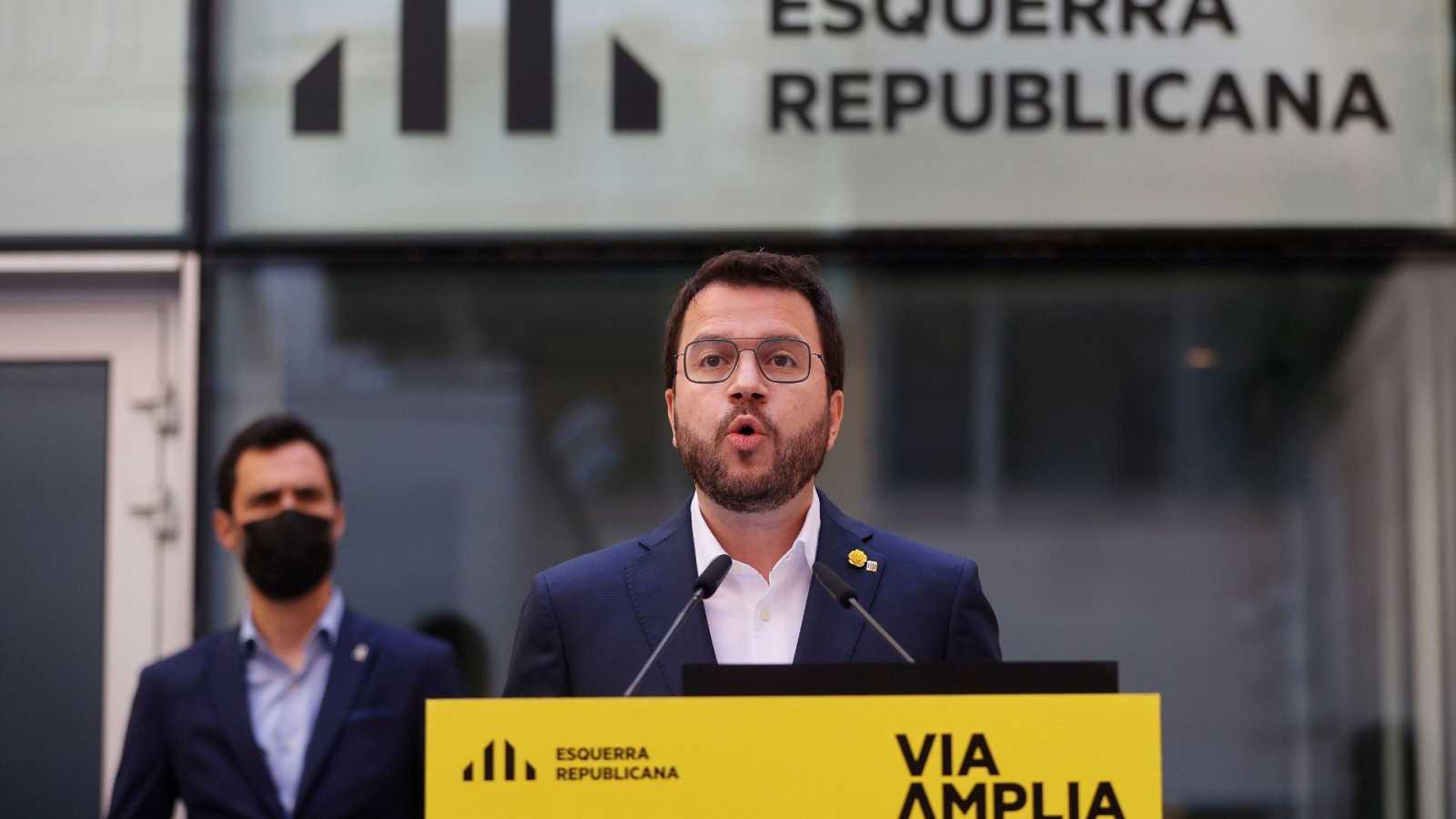 """Aragonès plantea un gobierno de ERC """"en solitario"""""""