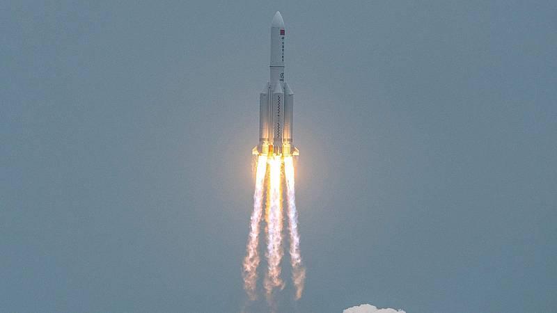 Caída descontrolada del cohete chino