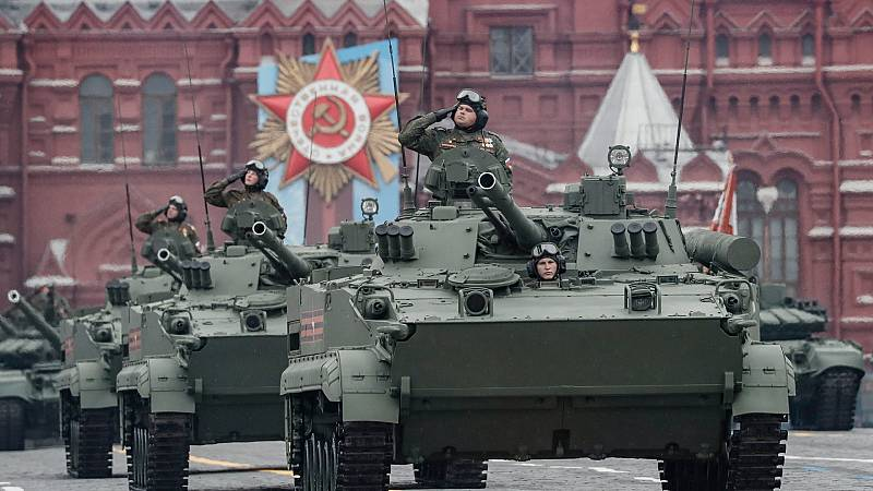Rusia celebra la victoria sobre la Alemania nazi en la Segunda Guerra Mundial