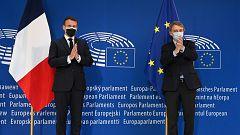 Los líderes de la UE celebran el Día de Europa en la sede del Parlamento Europeo de Estrasburgo