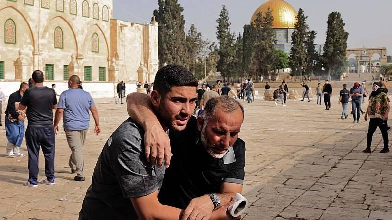 Más de 200 heridos en enfrentamientos en Jerusalén - Ver ahora
