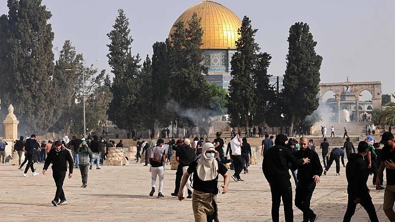Más de 300 heridos en enfrentamientos en Jerusalén - Ver ahora